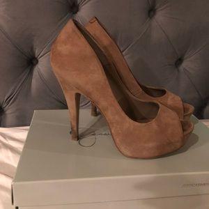 """Jessica Simpson """"nubuck"""" heels"""